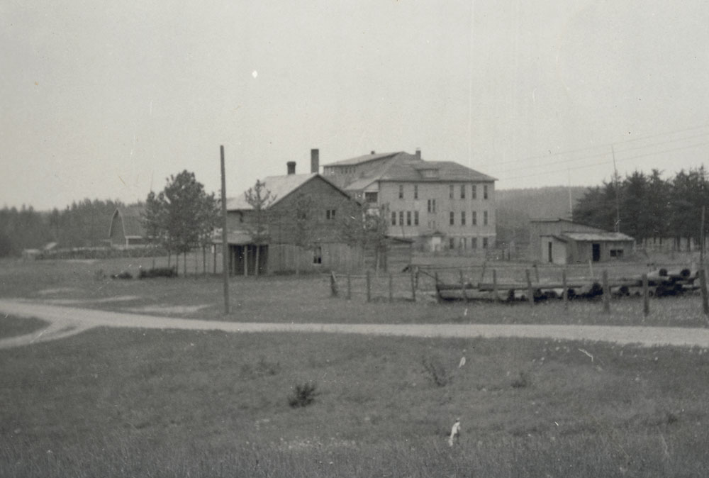 Saint John's Indian Residential School, a distant view of the school, Chapleau, June 1941