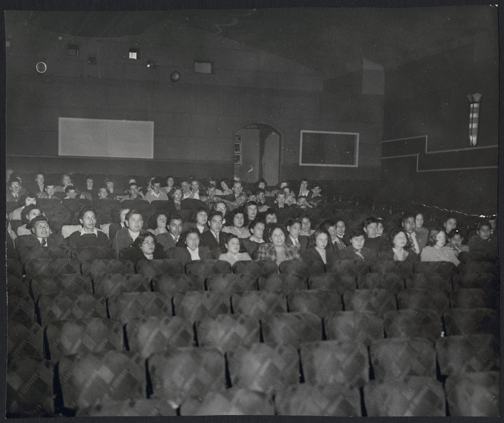 Mount Elgin Indian Day School, students attend a performance of Hamlet, Mount Elgin, December 1948