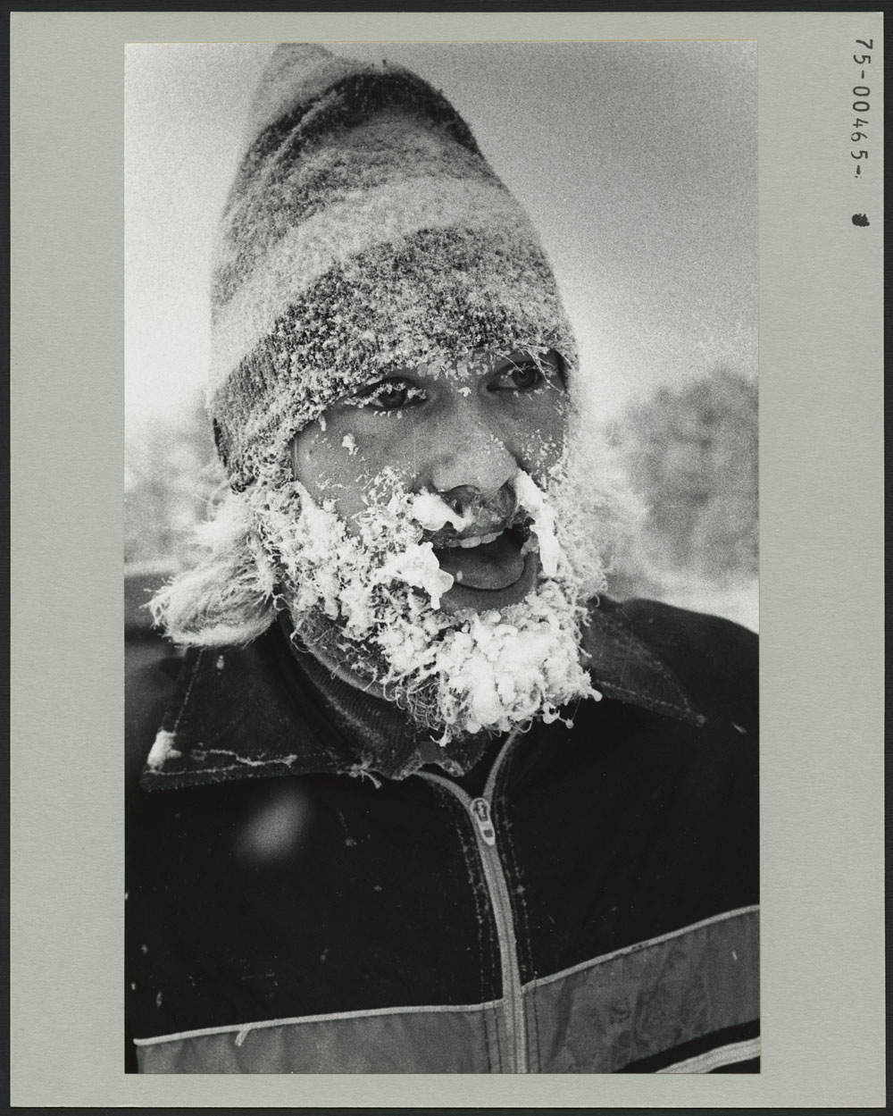 THE ICEMAN COMETH back from a workout on the cross-country trails near Westcastle. The frosted face is Sheldon Reynolds from Manitoba during the 3rd Canada Winter Games, at Lethbridge, Alberta
