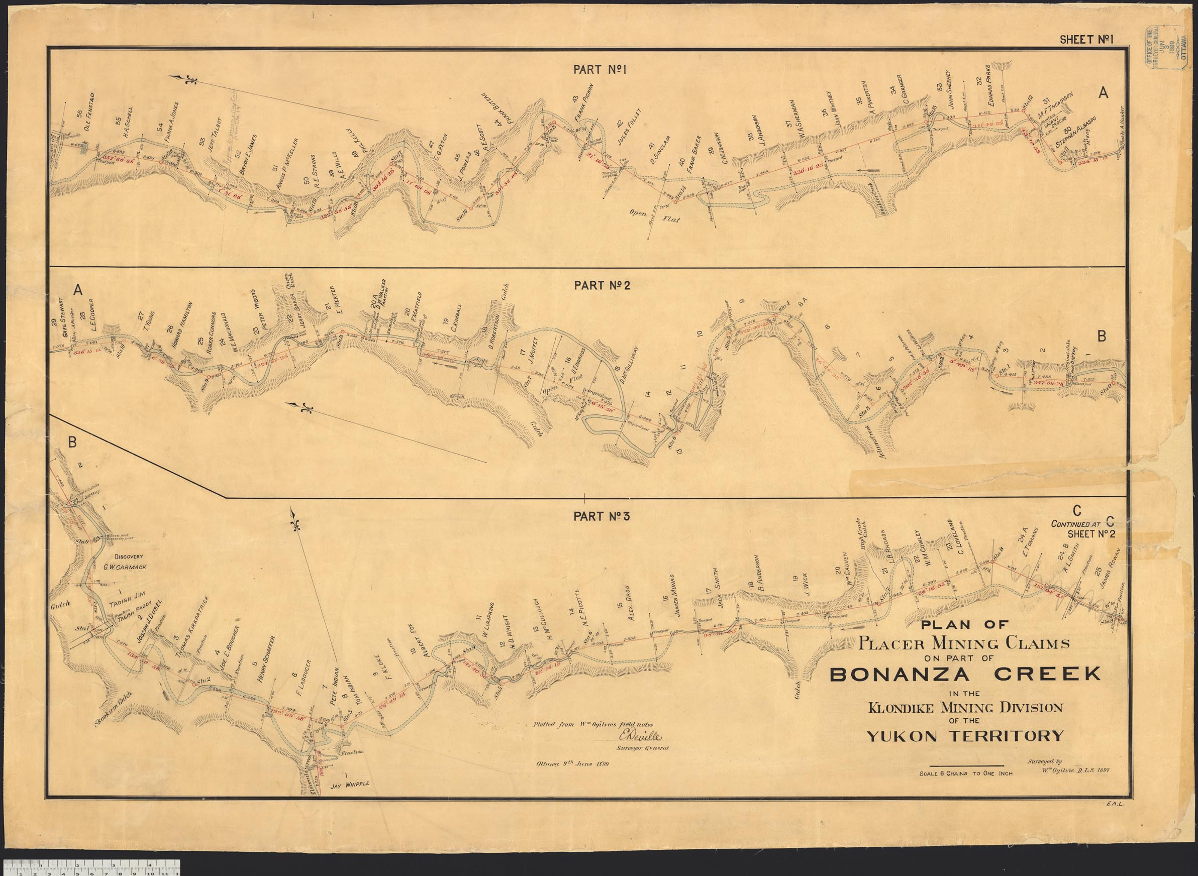 Bonanza Creek Map