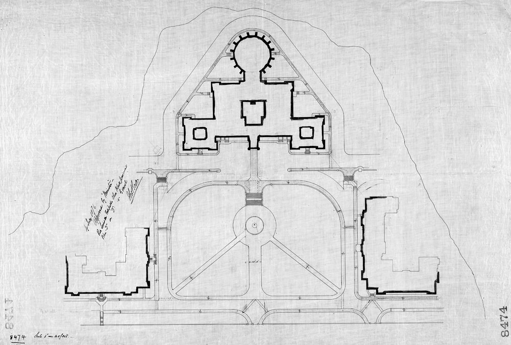 Grounds, Parliament Buildings, Ottawa.  [Plan showing footpaths]. (item 1)