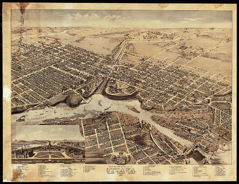 Bird's eye view of the city of Ottawa, Province, Ontario, Canada [cartographic material] (item 1)